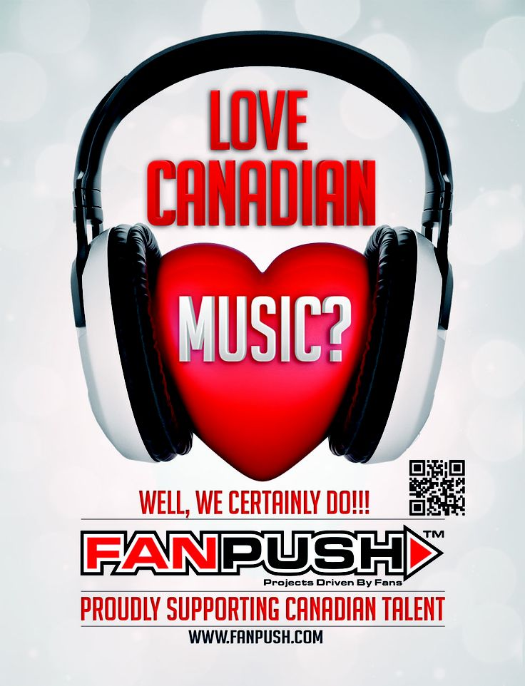 Love Canadian Music? Well, we certainly do!!! Proudly Supporting Canadian Talent https://www.fanpush.com/