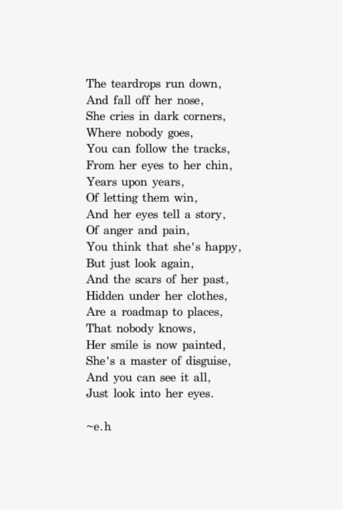 Tears - just look into her eyes