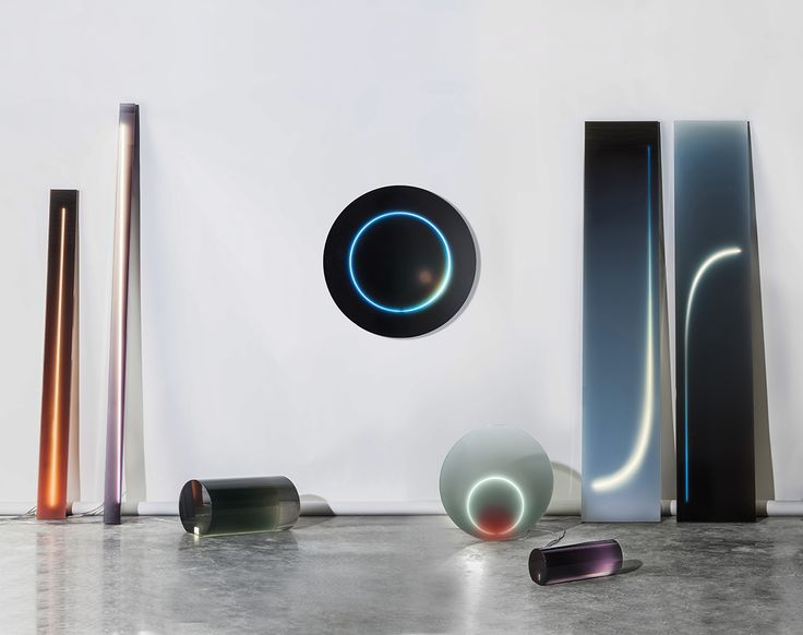 Sabine Marcelis - Cast resin and neon light objects at the 2015 Design Miami show /Victor Hunt Gallery, Belgium Design / Young design