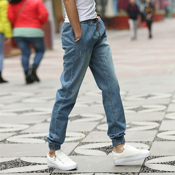 Find More Casual Pants Information about Joggers Pants Men 2015 New Arrival Denim Jogging Pant For Man Fashion Slim Fit Plus Size 5XL M Men's Outdoor Long Trousers Hot!,High Quality pants female,China pant wholesale Suppliers, Cheap pants from E-Express on Aliexpress.com