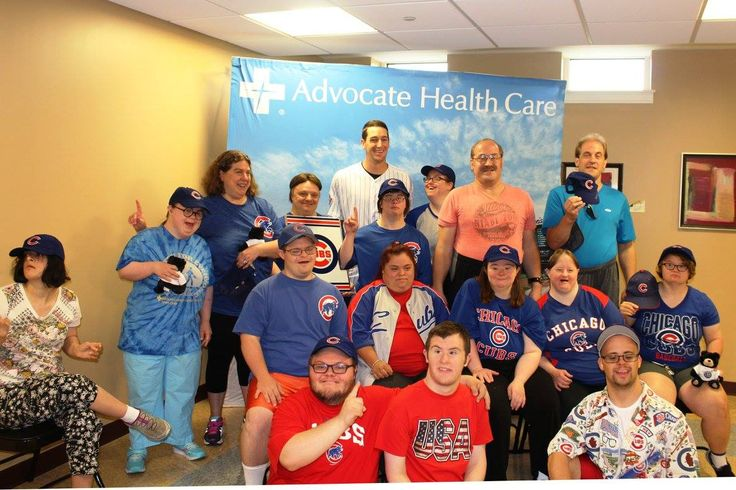 Before a game, Kyle Hendricks made some new friends at Advocate Health Care! #LetsGive