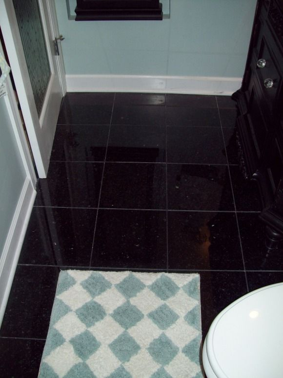 Perfect Black Granite Sparkle Floor Tiles Adornment Best Home