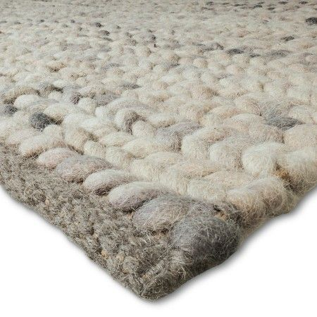 Chunky Knit Braided Wool Rug 5 X7 Gray The