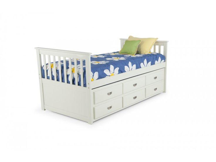 Chadwick Twin Captain Bed With Trundle   Kids Beds U0026 Headboards   Kids  Furniture   Bobu0027s