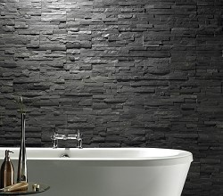 Uncalibrated Slate Linear Split Face Mosaic I'm going to do the chimney breast in my kitchen like this.x