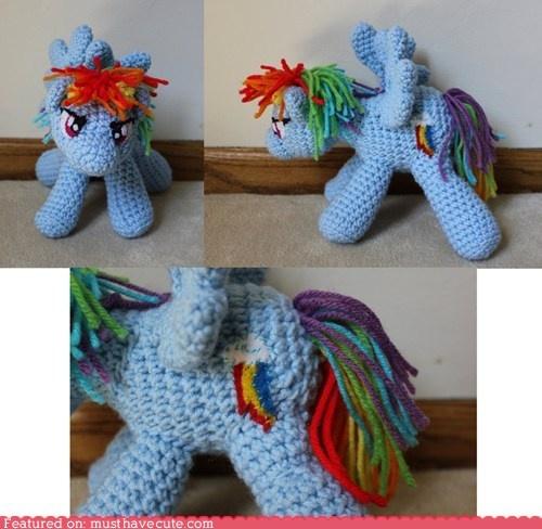 Amigurumi Stuffing Alternatives : cute kawaii stuff - Rainbow Dash Amigurumi Amigurumi ...