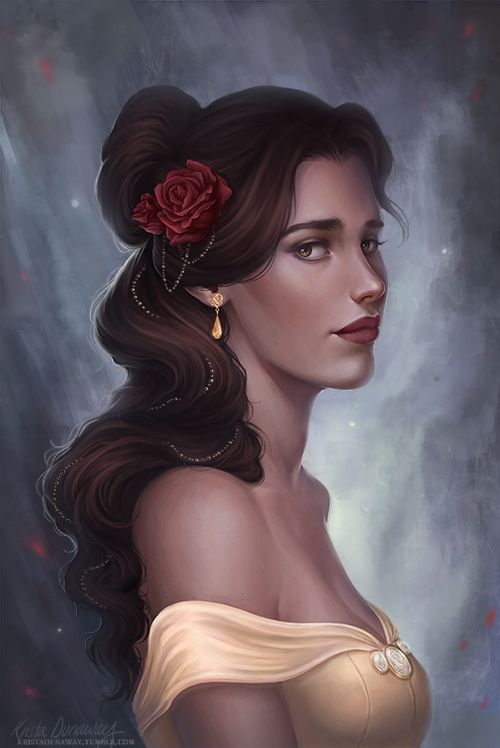 Commission photoreferences by client, other detail painted by me in PS CS5 Snow White © Disney