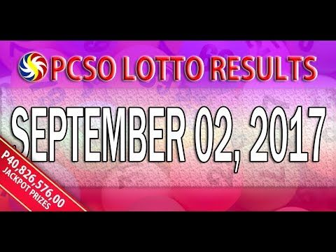 PCSO Lotto Result September 02, 2017 (6/55, 6/42, 6D, SWERTRES & EZ2 LOTTO) - http://LIFEWAYSVILLAGE.COM/lottery-lotto/pcso-lotto-result-september-02-2017-655-642-6d-swertres-ez2-lotto/