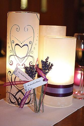 JOEY Vellum Paper Non Floral Centerpiece With Lavender Place Settings Lets Do This