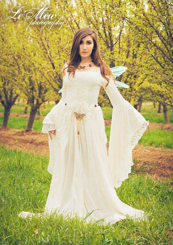 Gwendolyn Medieval or Renaissance Wedding Gown Velvet and Lace Custom. $465.00, via Etsy.