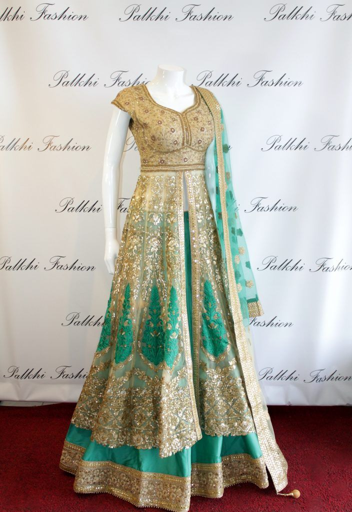 Palkhi Fashion Exclusive Bajirao mastani Style Gold/Green Outfit.