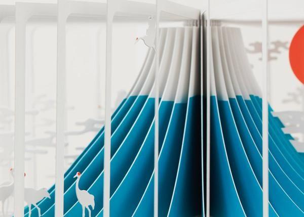 壯麗富士山縮小成迷你立體書,360-degree books | 大人物