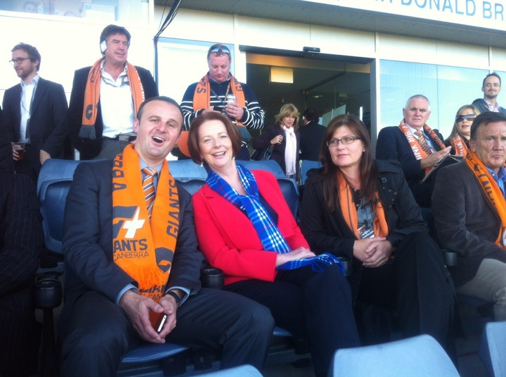 Prime Minister Julia Gillard and Sports Minister Kate Lundy