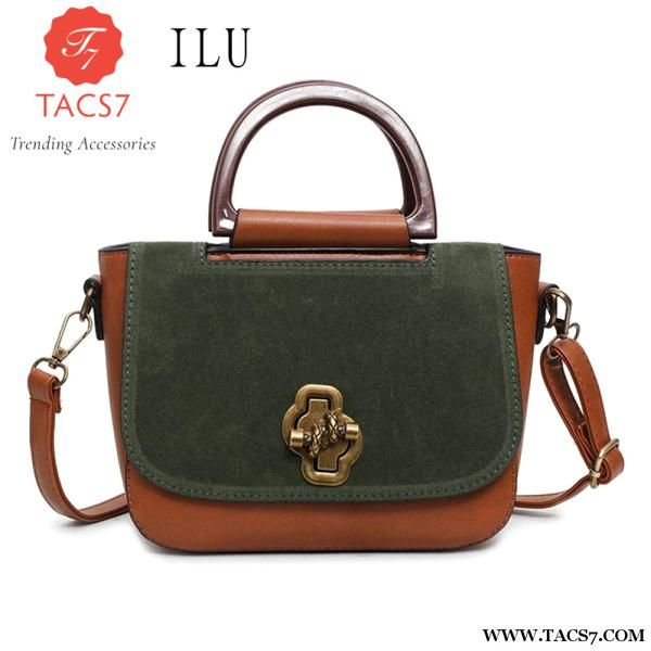 795400210c96 Mengxilu Designer Women Handbags Retro Pu Leather Shoulder Bag Patchwork  Scrub Printing Crossbody Messenger Briefcase Bags