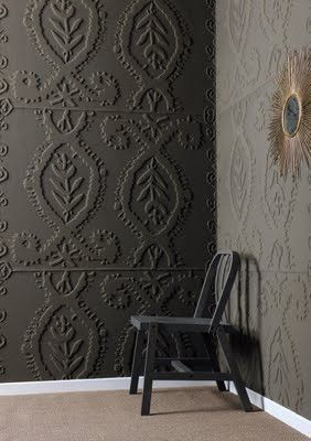 This textured wallpaper is unbelievable and you can paint it any color and finish you want!