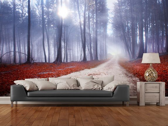 Mystical Forest Road wall mural room setting