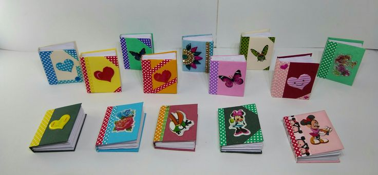 These miniature books is made with color papers.