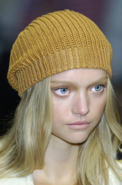 Burberry. Gold with Gemma Ward.