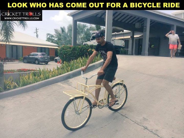 Early morning ride for Ravindra Jadeja in Antigua  For more cricket fun click: http://ift.tt/2gY9BIZ - http://ift.tt/1ZZ3e4d