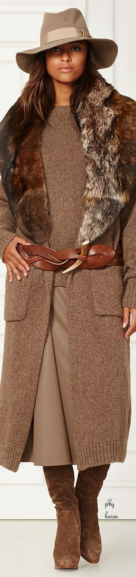 Diamond Cowgirl ~ Ralph Lauren Cashmire Coat