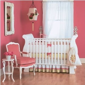 Pink!Wall Colors, Baby Girl Rooms, Beds Skirts, Baby Girls Room, Baby Room, Pink Wall, Girly Girl, Nurseries Ideas, Baby Nurseries
