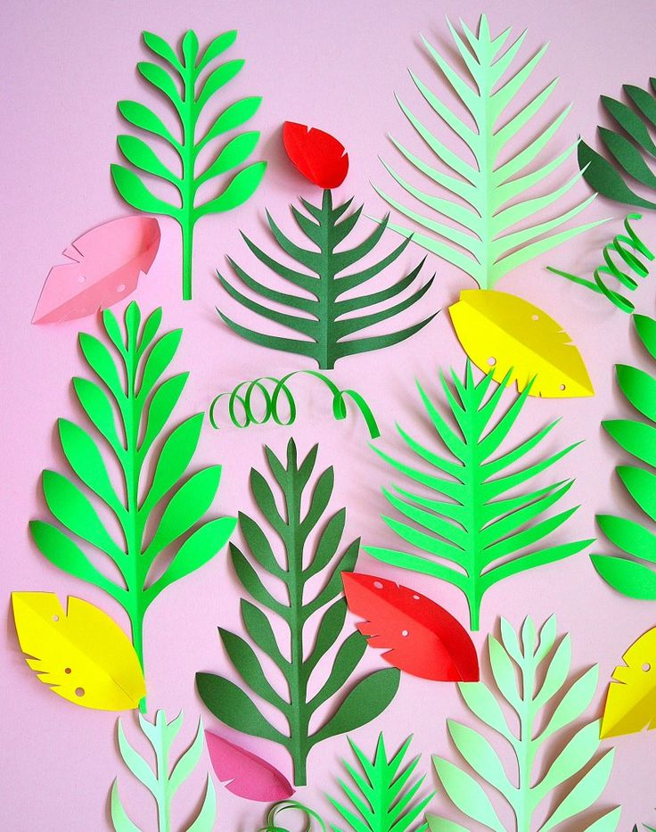 beautiful paper leaves