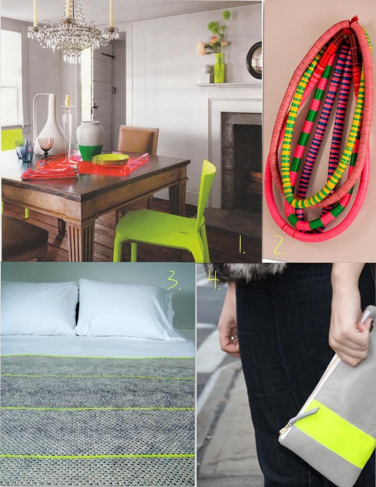 neon accessories, neon home accessories