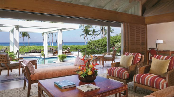 A bungalow at the Mauna Lani Bay Hotel & Bungalows on the Big Island of Hawaii.