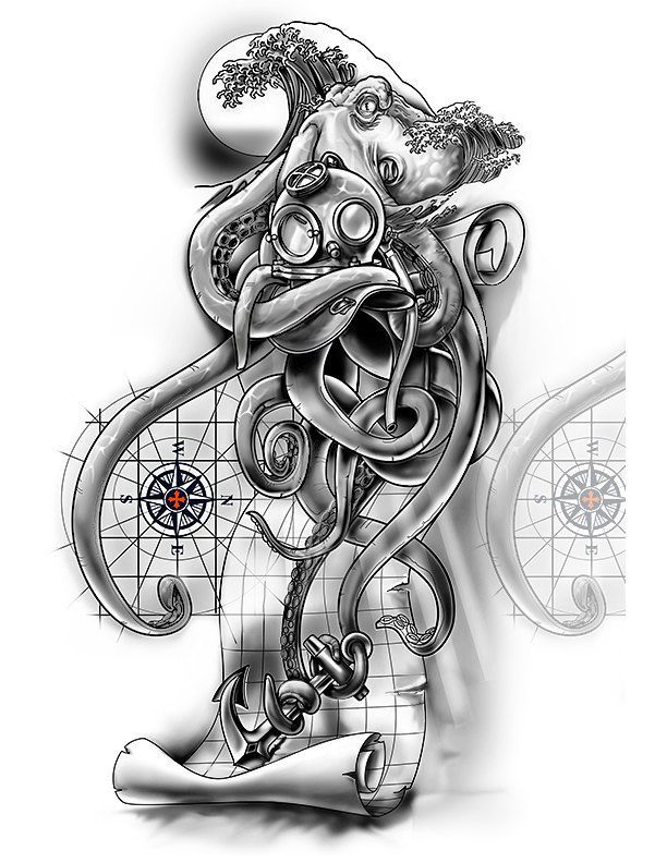 55 best images about tattoos on pinterest navy rates deep sea diver and skull drawings. Black Bedroom Furniture Sets. Home Design Ideas