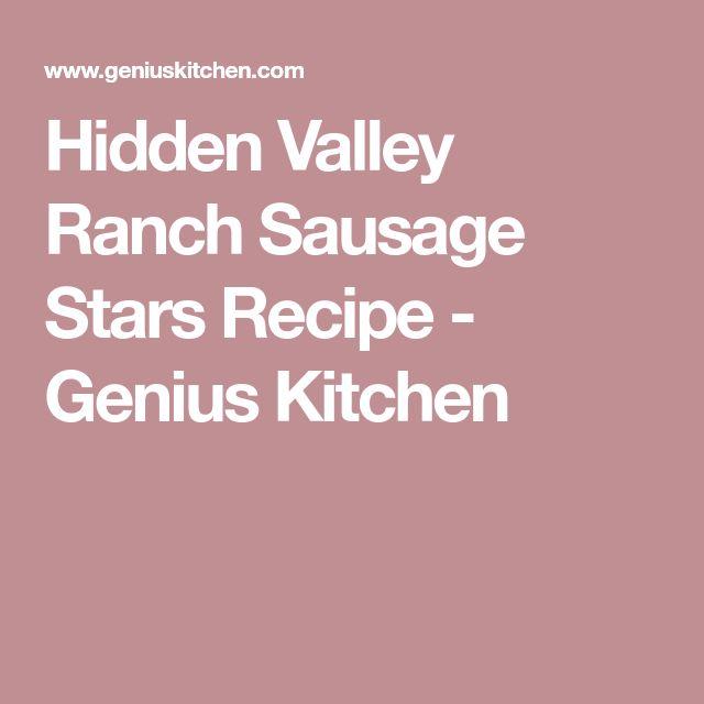 Hidden Valley Ranch Sausage Stars Recipe - Genius Kitchen