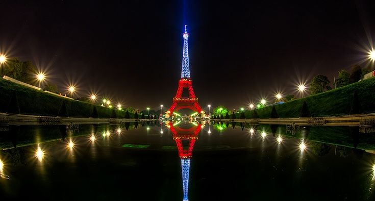 Torre Eiffel bandera de francia