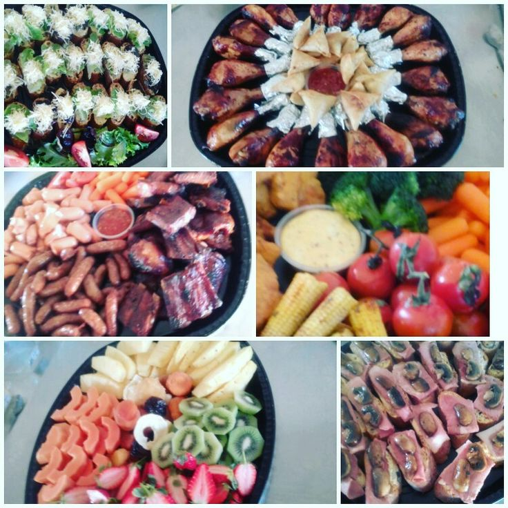 Delicious Fingerfood in South Africa, fresh platters. Something meaty, something fruity, something vegee!