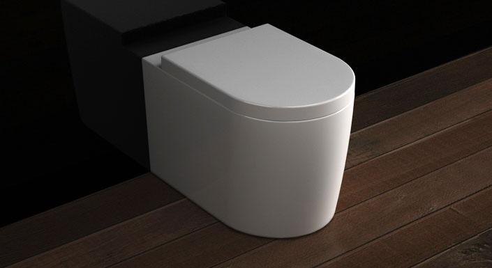 WC indépendant Pure Orba blanc + abattant : Toilette WC indépendant en céramique blanche. Profondeur 560 mm. Abattant avec système de fermeture amortie SoftClose inclus.