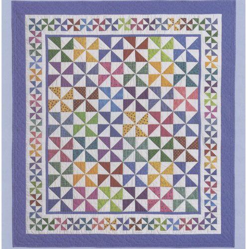 "Pinwheel quilt pattern ""Country Fair"" by Brandywine Designs."