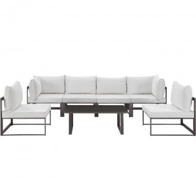 Best Fortuna 7 Piece Outdoor Patio Sectional Sofa Set Eei 1729 400 x 300