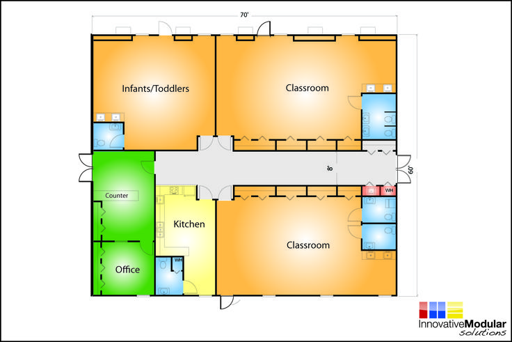 Day care designs floor plans day care floor plans for Design a preschool classroom floor plan online