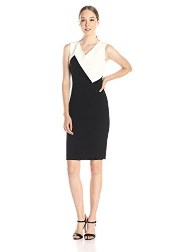 MILLY Women's Cady Daphine Color-Block Sleeveless Dress