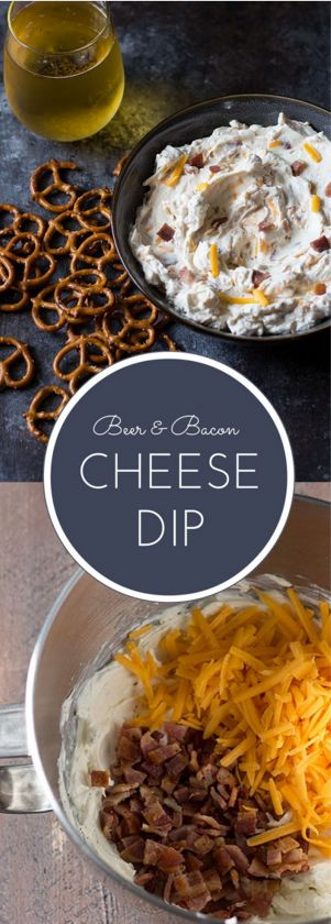 Beer and Bacon Cheese Dip | Searching for a new appetizer to serve? Look no further. This appetizer recipe combines softened cream cheese with beer, bacon, and cheese. Serve it with pretzels for dipping and you've got yourself a winner!