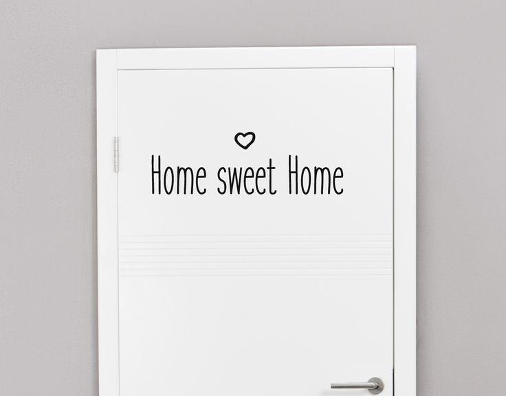 Home sweet Home -Tür- und Wandaufkleber #Wohndeko #Wandtattoo #Vinyl #Wohnideen #Wandbild