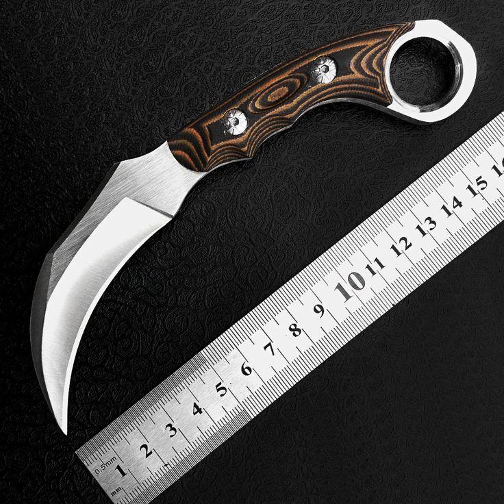 Ferramentas de acampamento , facão Karambit alta dureza de sobrevivência ao ar livre facas aço frio da caça combate Spity Messer(China (Mainland))