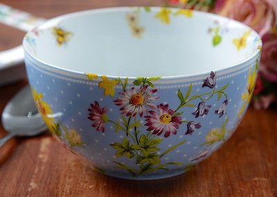 Katie Alice Jardín Inglés Shabby Chic Porcelana tazón de cereal