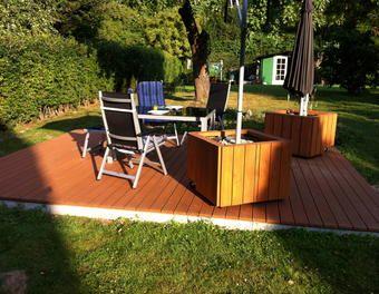 Perfect mobiler Sonnenschirmst nder Terrasse Douglasie Sonnenschirm Ikea Schirmst nder Ikea Hack