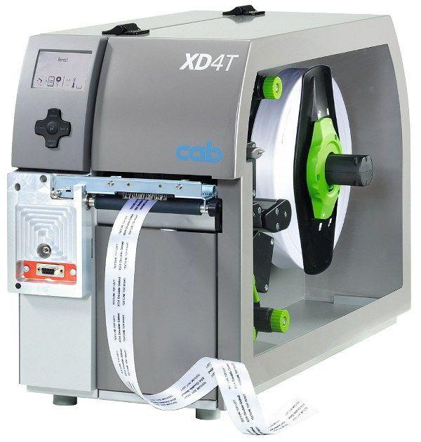 Textiletiketten-Drucker für beidseitigen Druck 125 mm/s, 300 dpi | XD4T cab Produkttechnik GmbH & Co KG