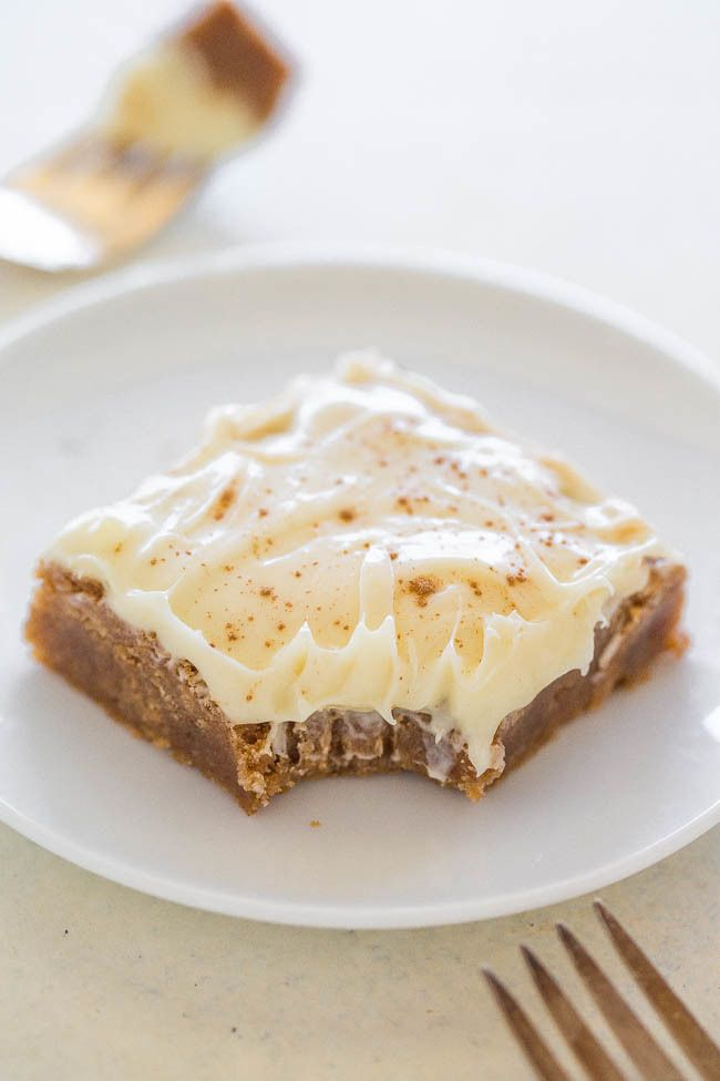 Cinnamon Roll Bars with Cream Cheese Frosting.