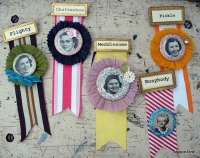 Because these somehow can be used in a very cool way!  Ribbon award pins, merit badges.