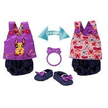 Baby Alive Sweet and Sassy Reversible Bloomer Set Large (fits My Baby Alive, My Real Baby, and Real Surprises only) by Hasbro. $22.50. dolls sold separately. includeds reversible top and bloomer bottoms, shoes, and rattle for baby or bracelet for you. Baby Alive Sweet and Sassy Reversible Bloomer Set. ages 3+. Large: Fits My Baby Alive, My Real Baby, and Real Surprises only. Baby Alive 2 in 1 reversible outfit