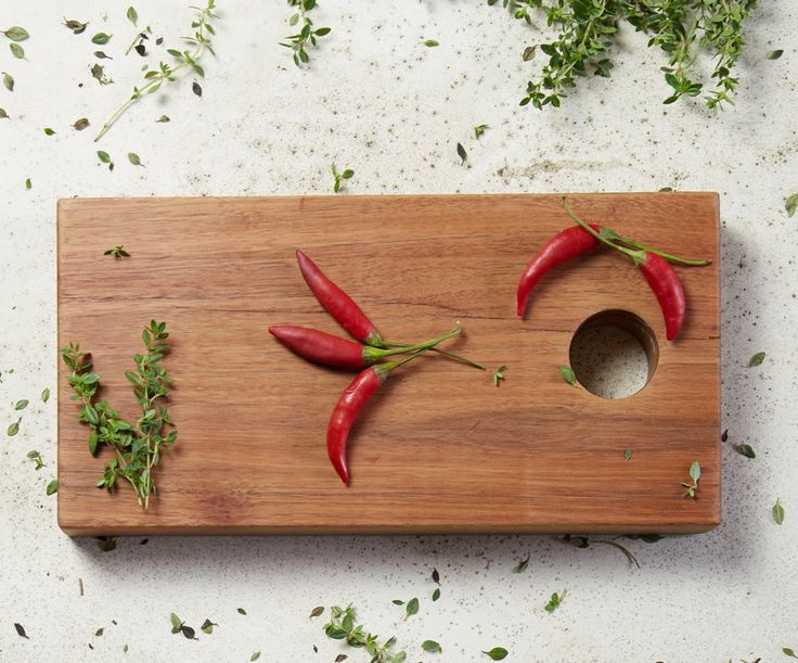 Chillies. Chopping board by wah.works. Photo by Dani Knox Photos