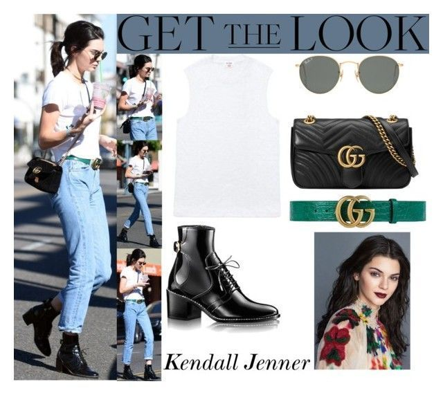 """""""Kendall Jenner Beverly Hills CA November 13, 2016"""" by valenlss ❤ liked on Polyvore featuring Ray-Ban and Gucci"""