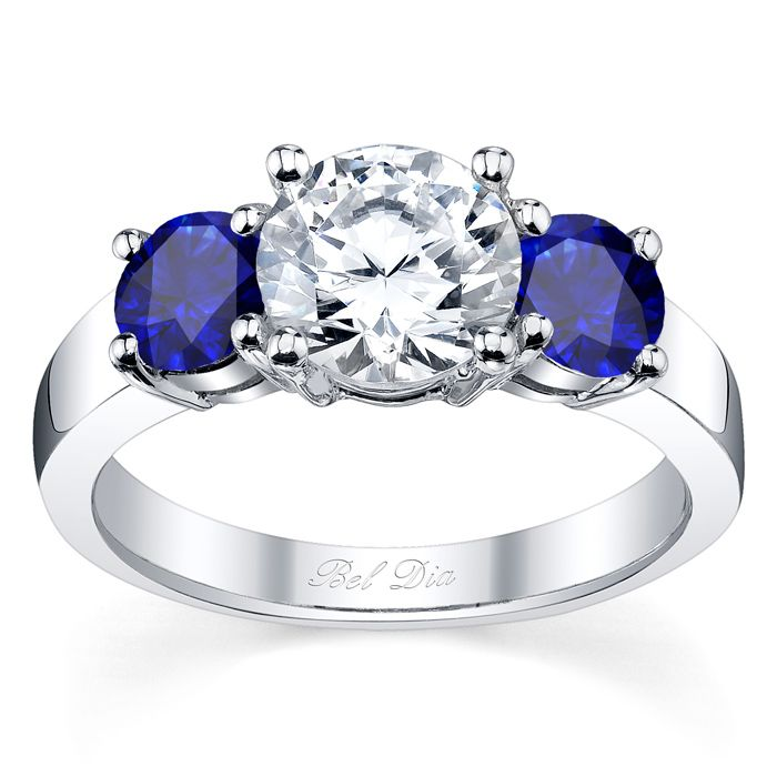 setting rings side set stone ring on engagement diamond shoulder accented prong product