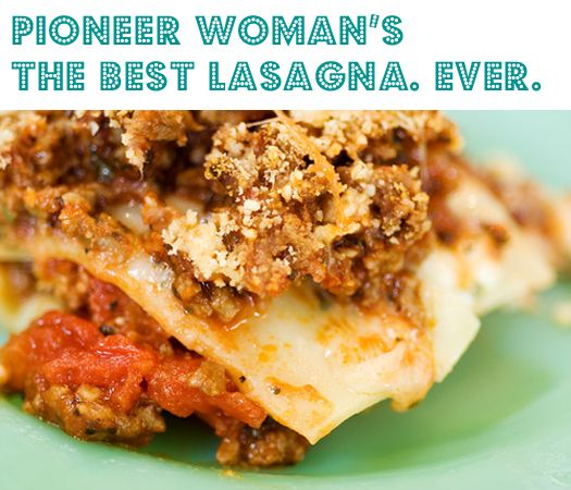 Pioneer Woman Lasagna - kitchen tips and tricks recipe